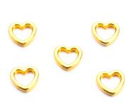 Bedel / connector / tussenstuk hartje goudkleurig