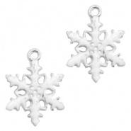 Bedel sneeuwvlok zilver wit
