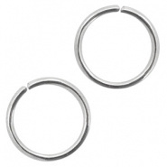 Open ring zilver 10 mm 20 gram RVS