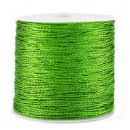 Macramé draad groen metallic 0,5 mm