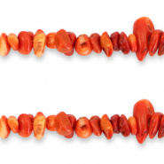 Chips stone kralen oranje classic mixed 25 stuks