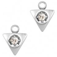 Bedel driehoek met strass zilver TQ