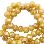 Facetkraal goud geel warm 8x6 mm 72 stuks