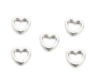 Bedel / connector / tussenstuk hartje zilver