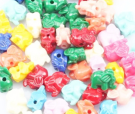 Koraal kraal olifant mix kleur