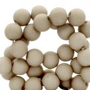Acryl kraal grijs vetiver 4 mm parel matt