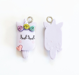 Bedel ijsje paars lila unicorn
