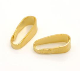Klemmetje voor hanger goud 5 stuks