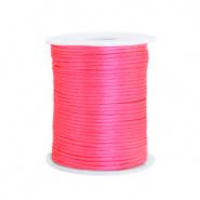 Satijn draad roze neon 1,5 mm