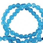Natuursteen kraal blauw aquamarine 2,2 mm facet