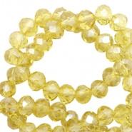 Facetkraal geel licht opaal 4x3 mm 150 stuks