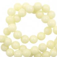 Kraal geel soft 6 mm half edelsteen jade
