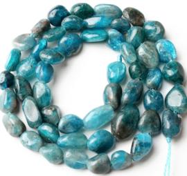 Natuursteen nugget kralen Blue apatite 10 stuks 5-8 mm