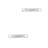Bedel bar zilver RVS connector