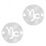 Bedel / tussenstuk sterrenbeeld Steenbok zilver RVS