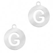 Bedel initial G zilver RVS