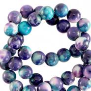 Kraal blauw paars 4 mm natuursteen