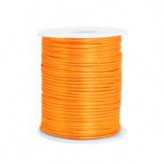Satijn draad oranje bright 1,5 mm