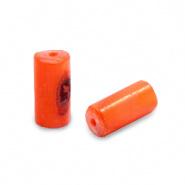 Schelp kraal oranje royal 8x4 mm tube