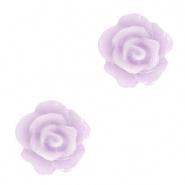 Bloem kraal paars lila pastel roosje 10 mm
