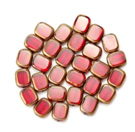 Glaskraal rood goud