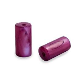 Schelp kraal paars licht 8x4 mm tube