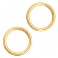 Open ring goudkleurig 5 mm 100 stuks RVS