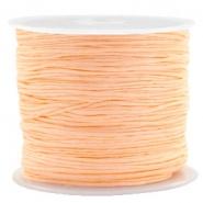 Macramé draad oranje apricot 0,8 mm