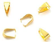 Klemmetje voor hanger goudkleurig 9,5x5 mm