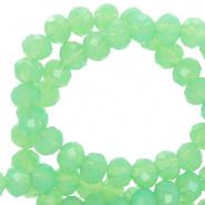 Facetkraal groen opal 4x3 mm 150 stuks
