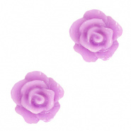 Bloem kraal paars lila sheer roosje 10 mm