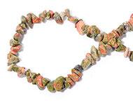 Chips stone kralen groen roze mixed 25 stuks