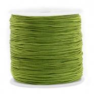 Macramé draad groen olive 0,8 mm