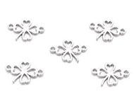 Bedel / connector / tussenstuk klavertje zilver