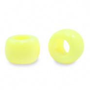 Acryl kralen rondellen 9 mm geel