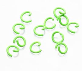 Open ring groen 8 mm 20 stuks