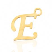 Bedel letter E RVS goudkleurig