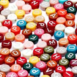 Letterkraal alfabet color mix autumn zilver