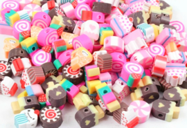 Polymeer kraal fimo candy crush mix