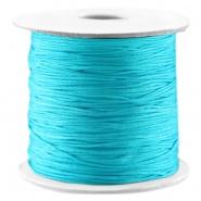Macramé draad blauw cyaan 0,7 mm satijn
