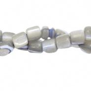 Schelp kraal grijs lavendel 4x3,5 mm tube