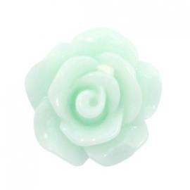 Bloem kraal groen mint licht roosje 10 mm