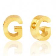 Initiaal letterkraal RVS G goud