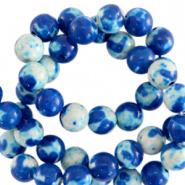Kraal blauw princess 6 mm natuursteen