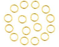 Open ring goudkleurig 8 mm 80 stuks