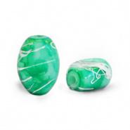 Glaskraal groen eden silverline ovaal