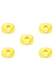 Metalen kraal goud 5x2 mm spacer 10 stuks
