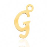 Bedel letter G RVS goudkleurig