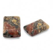 Kraal bruin marble rechthoek half edelsteen