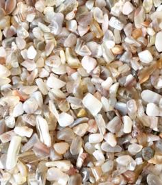 Chips stone kralen bruin wit geel roze 25 stuks